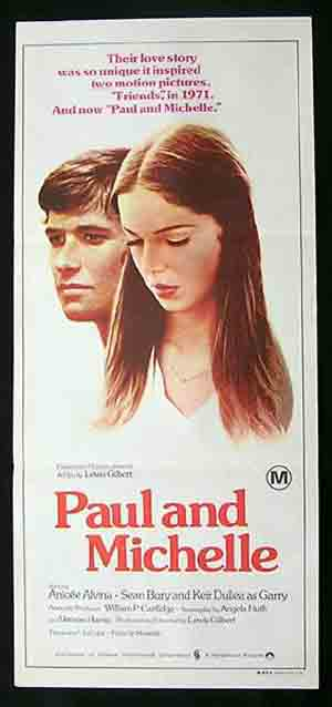 PAUL AND MICHELLE Original daybill Movie Poster Anicée Alvina Sean Bury Keir Dullea