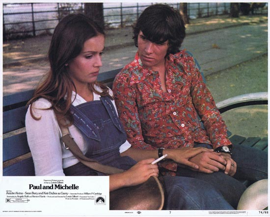 PAUL AND MICHELLE Lobby Card 8 1974 Keir Dullea Anicee Alvina