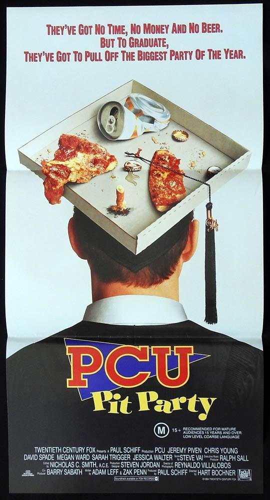 PCU PIT PARTY Original Daybill Movie Poster Jeremy Piven David Spade Megan Ward