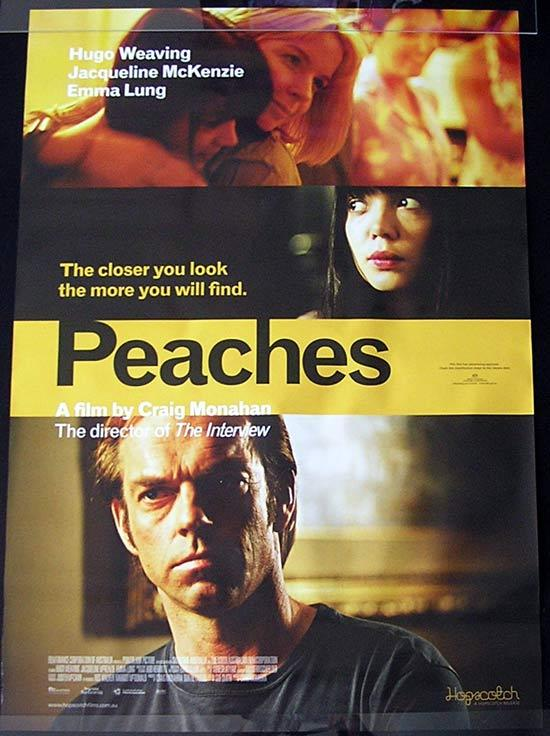 PEACHES '04 Hugo Weaving RARE ORIGINAL 1 Sheet poster