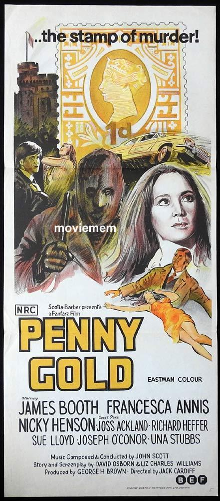 PENNY GOLD Original Daybill Movie Poster James Booth Francesca Annis