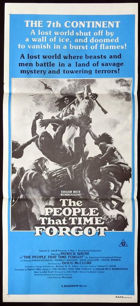 THE PEOPLE THAT TIME FORGOT Daybill Movie poster DINOSAURS Patrick Wayne Sci Fi