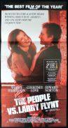 PEOPLE VS LARRY FLINT Original Australian Daybill Movie poster Woody Harrelson Edward Norton