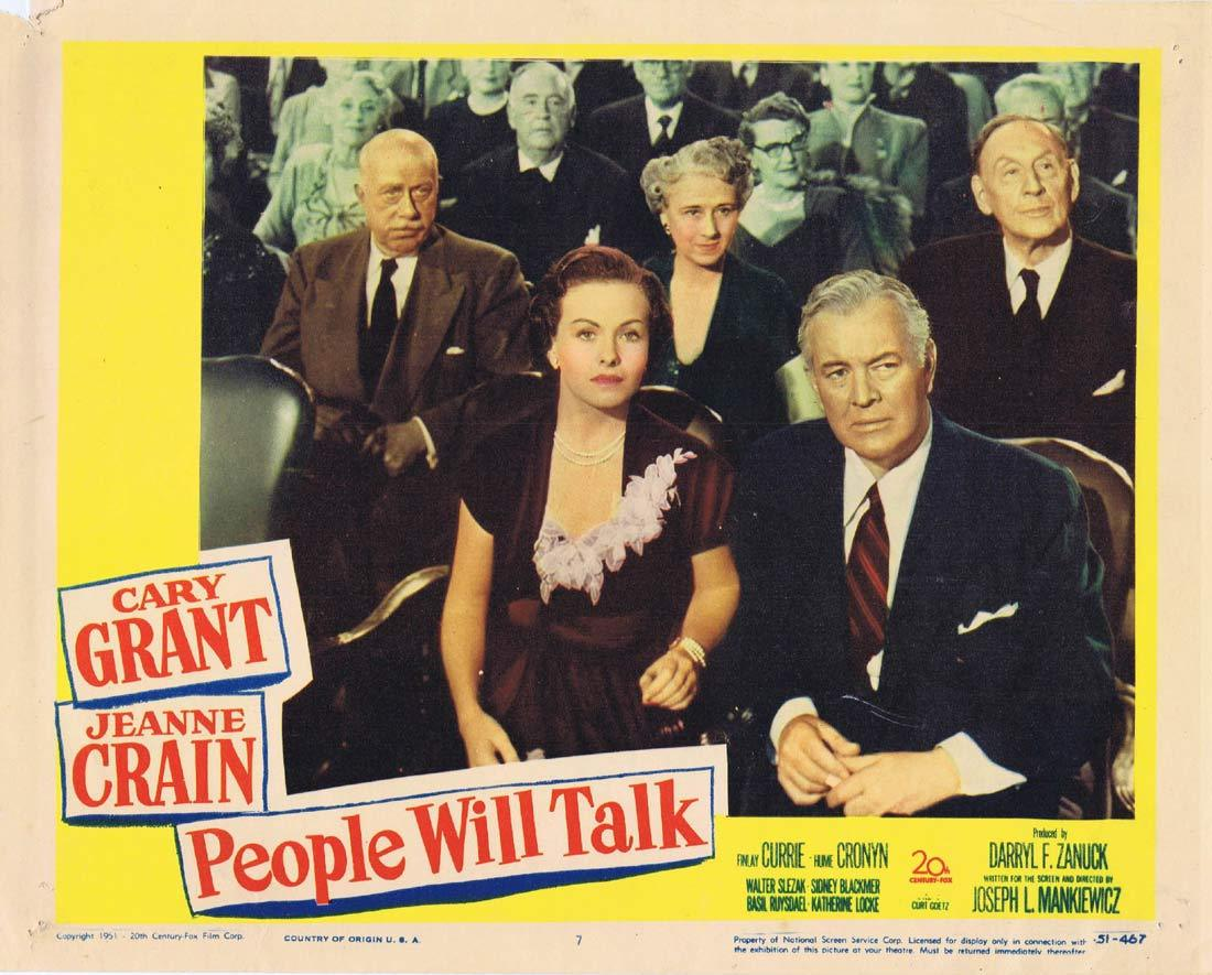 PEOPLE WILL TALK Lobby Card 7 1951 Cary Grant Jeanne Crain
