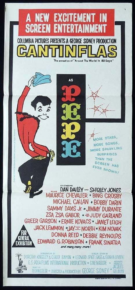 PEPE Original Daybill Movie Poster CANTINFLAS Shirley Jones Circus