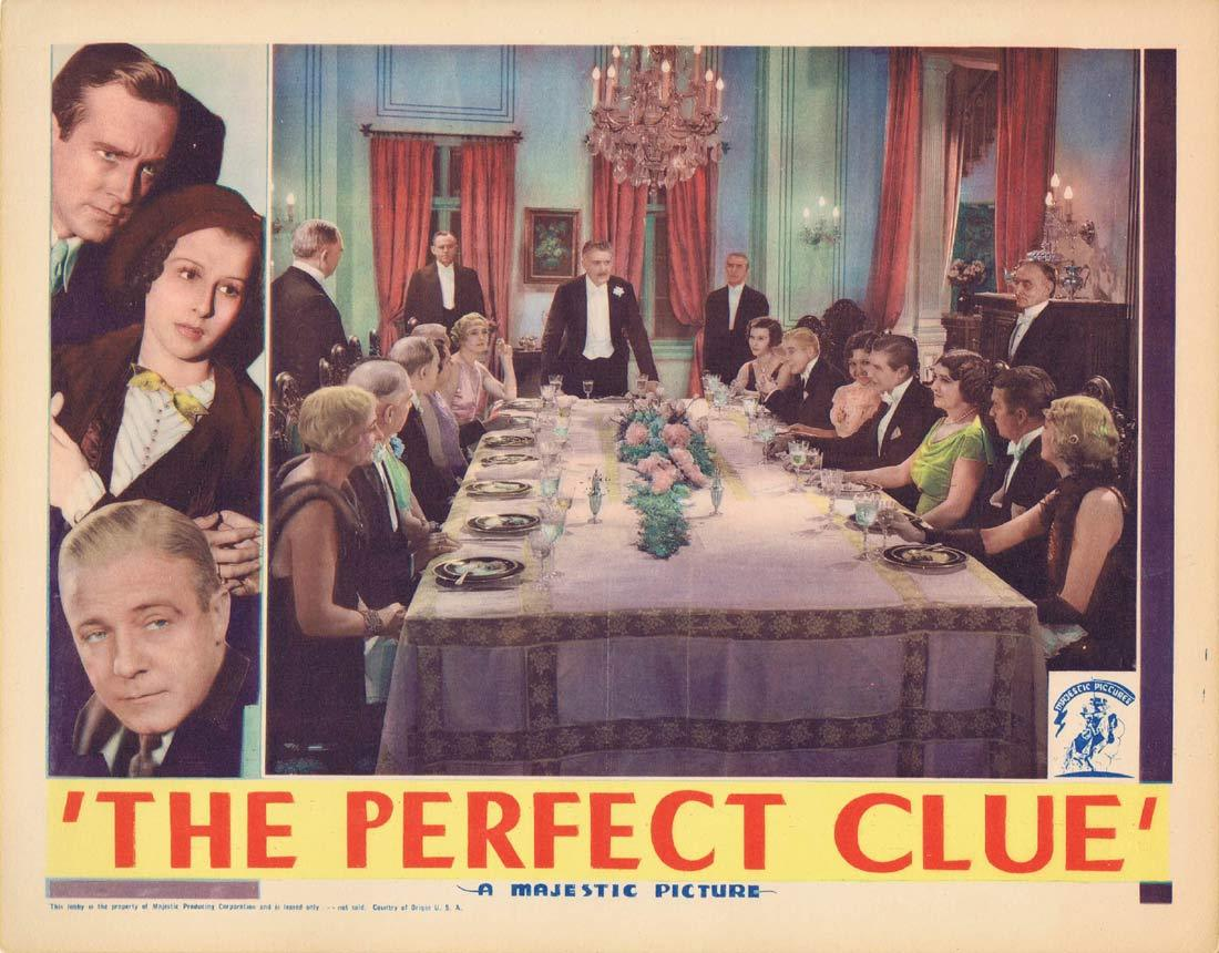 THE PERFECT CLUE Original Lobby Card David Manners Richard 'Skeets' Gallagher Dorothy Libaire 1935