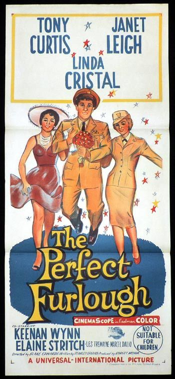 THE PERFECT FURLOUGH Daybill Movie poster Tony Curtis
