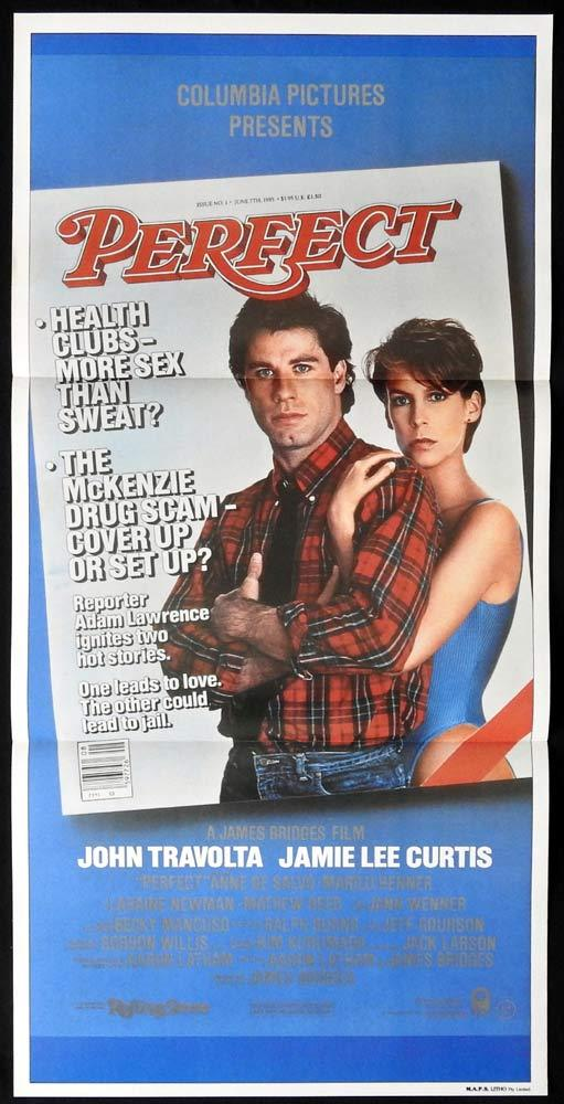 PERFECT Original Daybill Movie poster JAMIE LEE CURTIS John Travolta