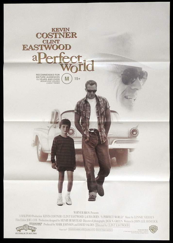 A PERFECT WORLD One sheet Movie Poster 1993 Clint Eastwood Kevin Costner