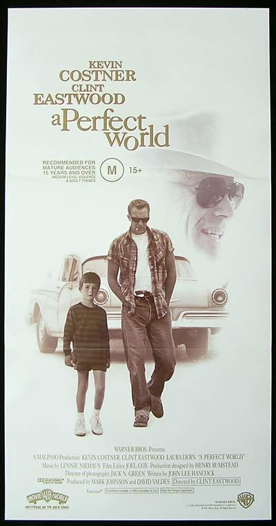 A PERFECT WORLD Daybill Movie Poster 1993 Clint Eastwood Kevin Costner