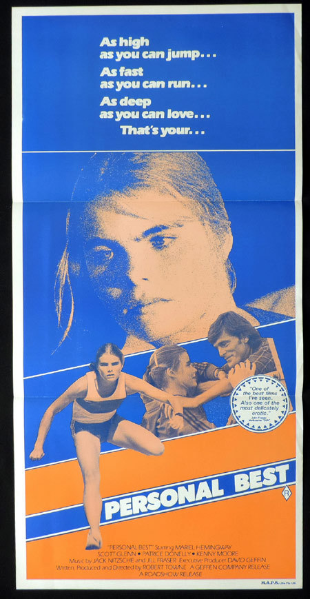 PERSONAL BEST Australian Daybill Movie poster Mariel Hemingway Scott Glenn