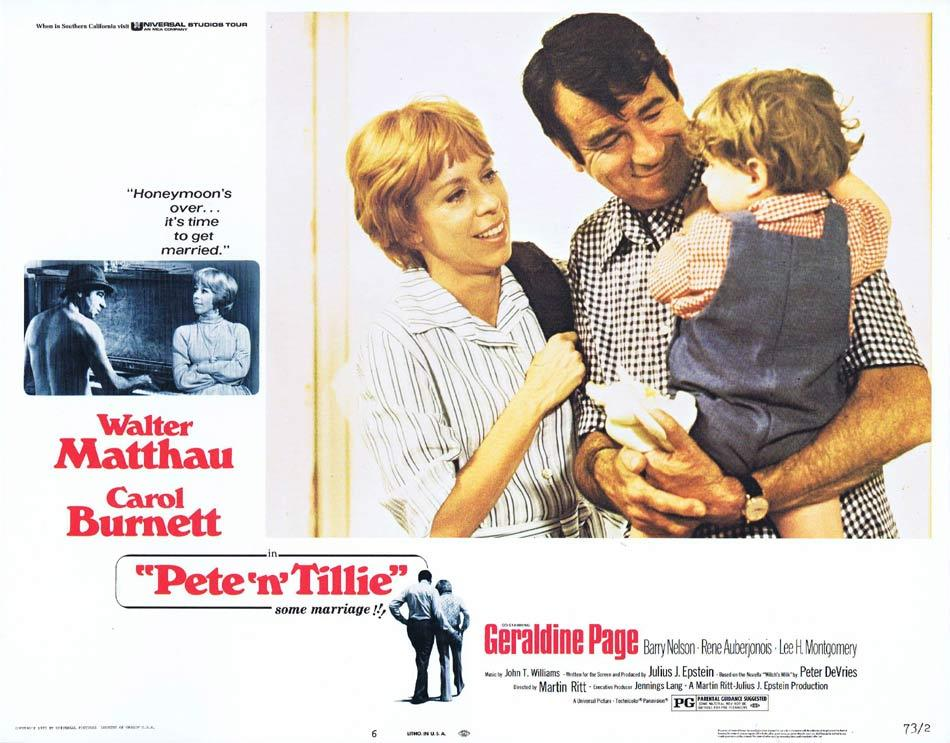 PETE N' TILLIE Lobby Card 6 Walter Matthau Carol Burnett Geraldine Page