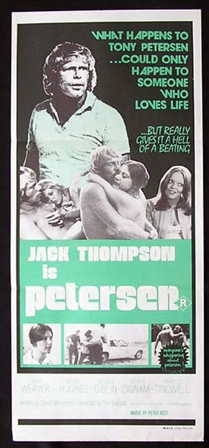PETERSEN 1974 Jack Thompson RARE Daybill Movie Poster
