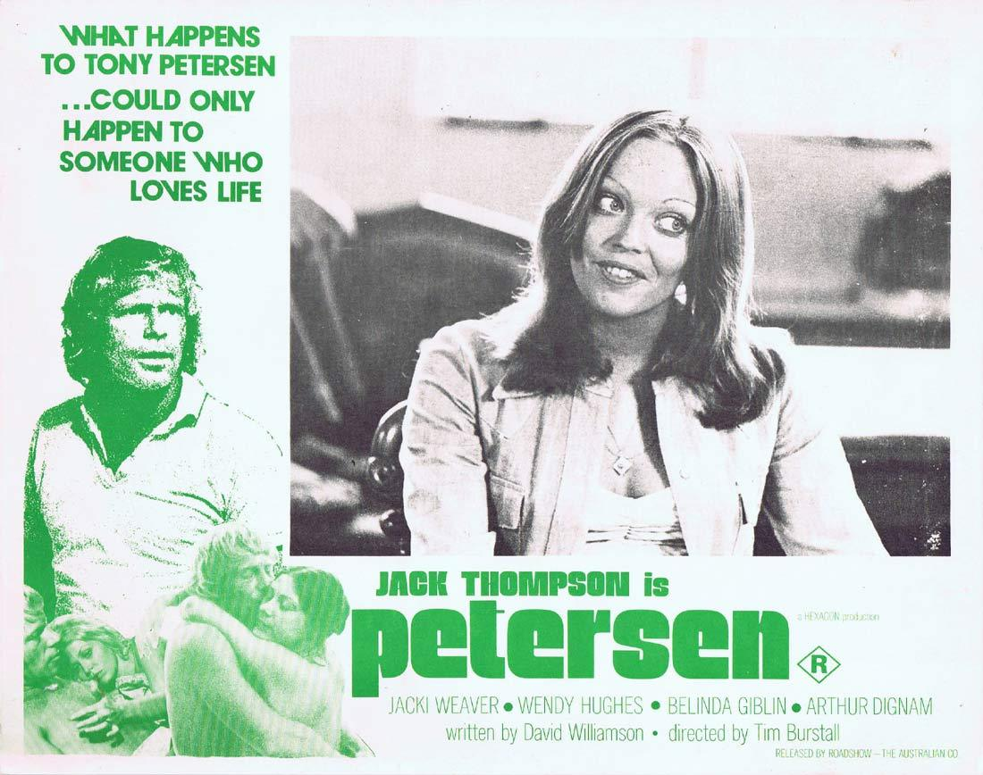 PETERSEN Original Lobby Card 1 Jack Thompson Jacki Weaver Wendy Hughes