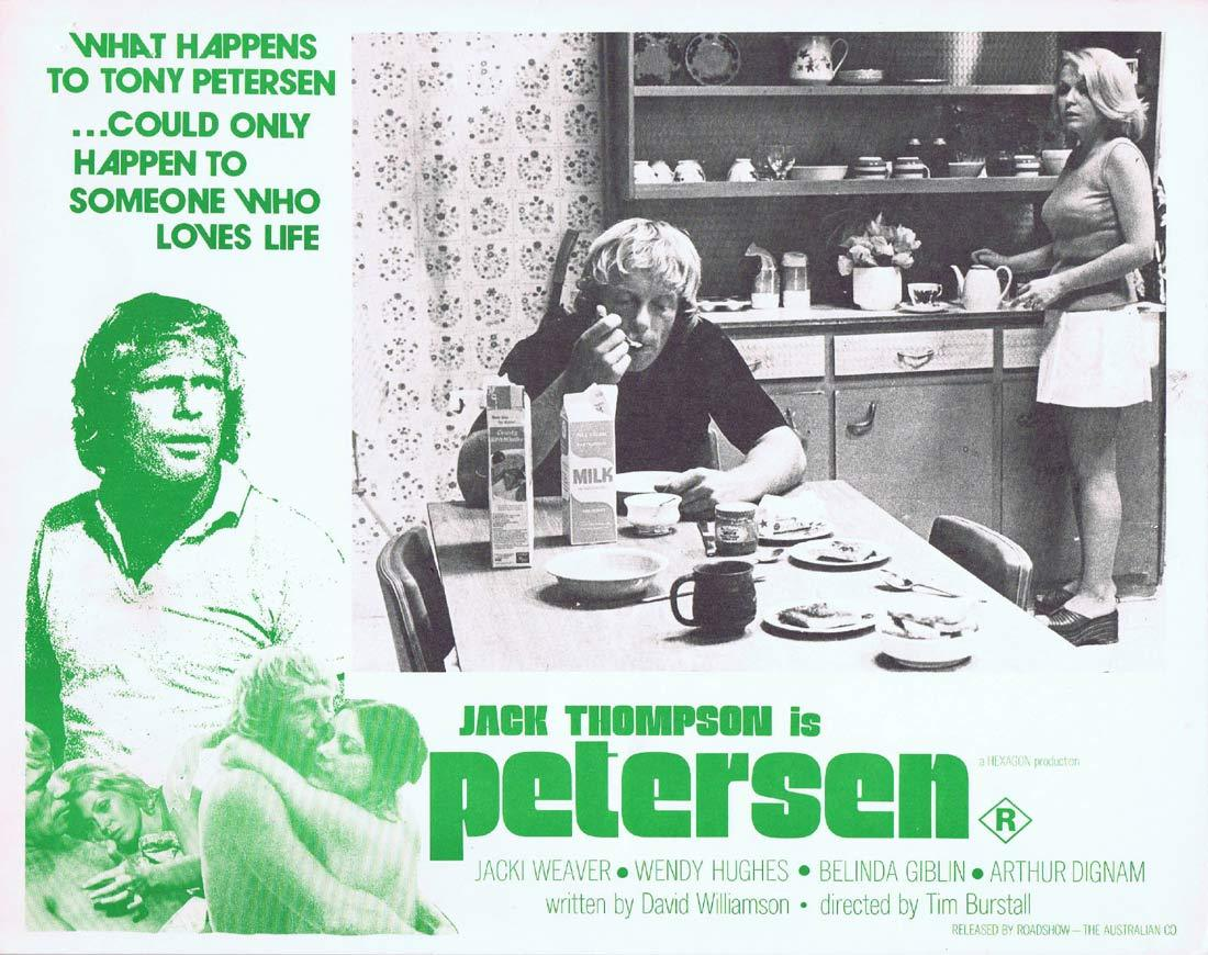 PETERSEN Original Lobby Card 3 Jack Thompson Jacki Weaver Wendy Hughes