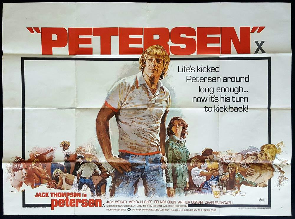 PETERSEN Original British Quad Movie Poster Jack Thompson