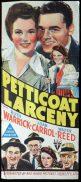 PETTICOAT LARCENY 1943 Ruth Warrick RKO poster