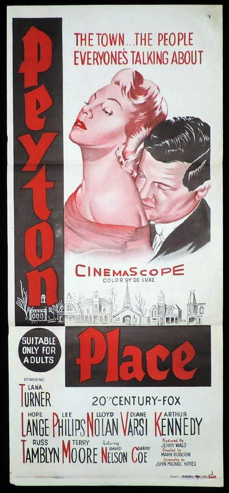 PEYTON PLACE Original Daybill Movie Poster Lana Turner