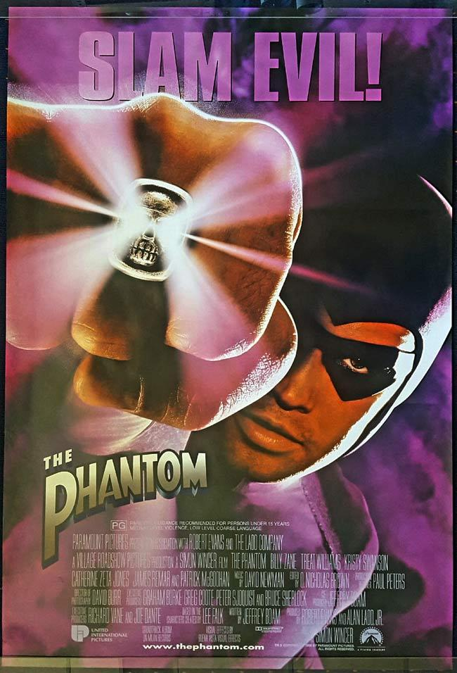 THE PHANTOM Rolled Australian DS One Sheet Movie Poster Billy Zane