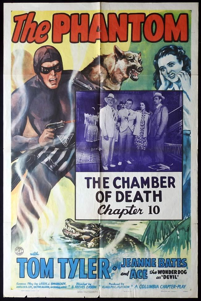 THE PHANTOM US One sheet Movie Poster TOM TYLER Serial Chapter 10