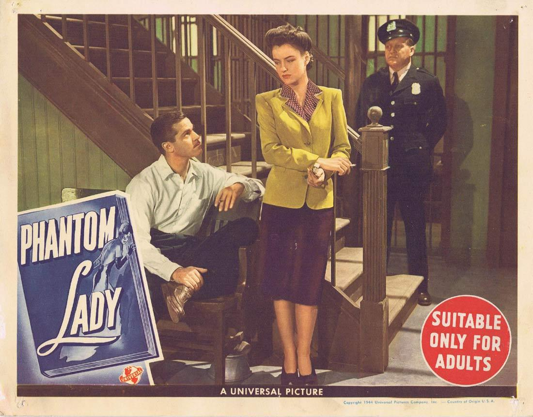 PHANTOM LADY Lobby Card Franchot Tone Ella Raines Alan Curtis.