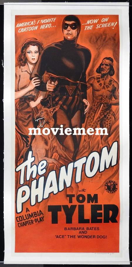 THE PHANTOM Daybill Movie Poster TOM TYLER Columbia Serial Original NZ release