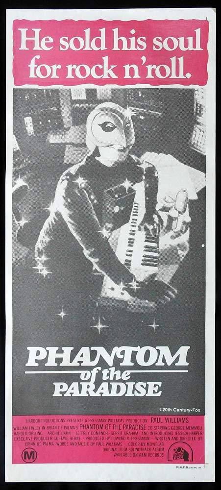 PHANTOM OF THE PARADISE Original Daybill Movie Poster Paul WIlliams William Finley