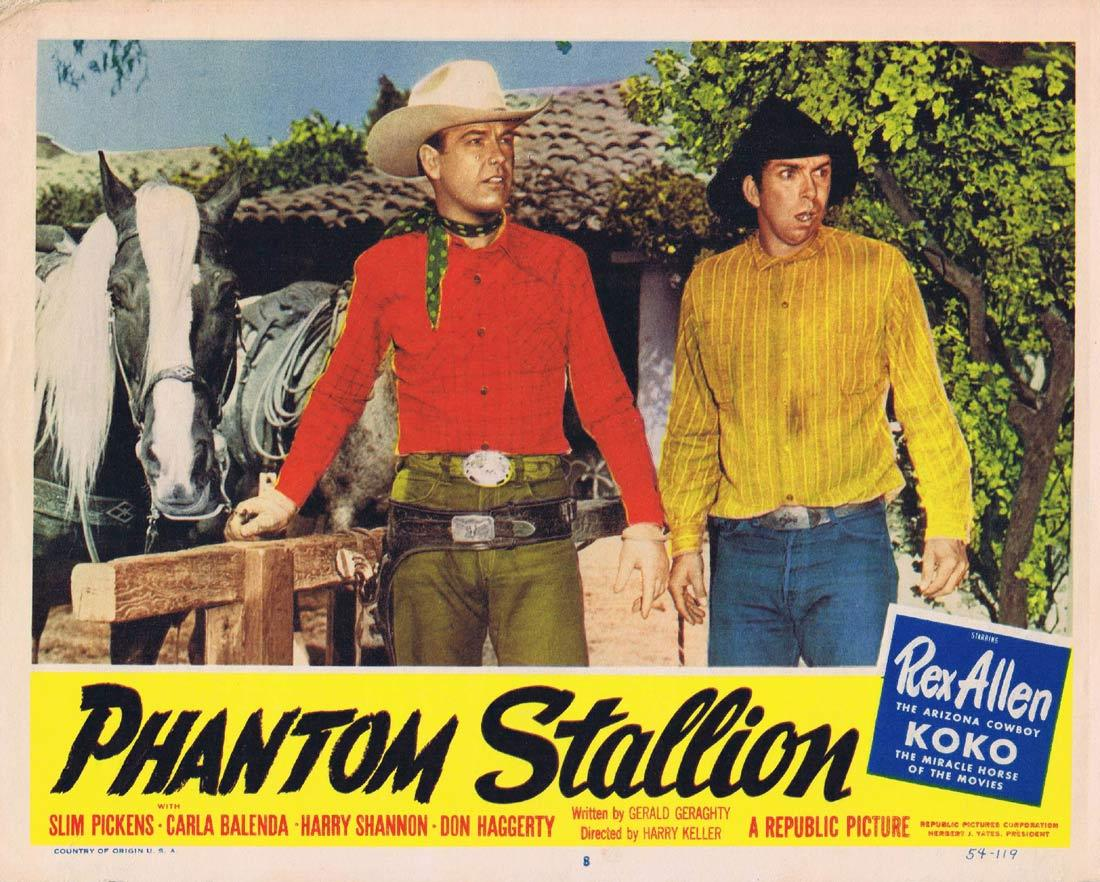 THE PHANTOM STALLION Lobby Card 8 Rex Allen Carla Balenda Slim Pickens