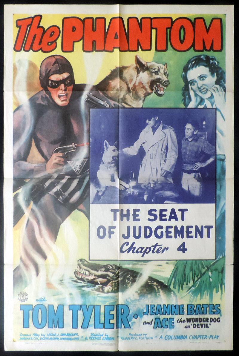 THE PHANTOM US One sheet Movie Poster TOM TYLER Serial Chapter 4