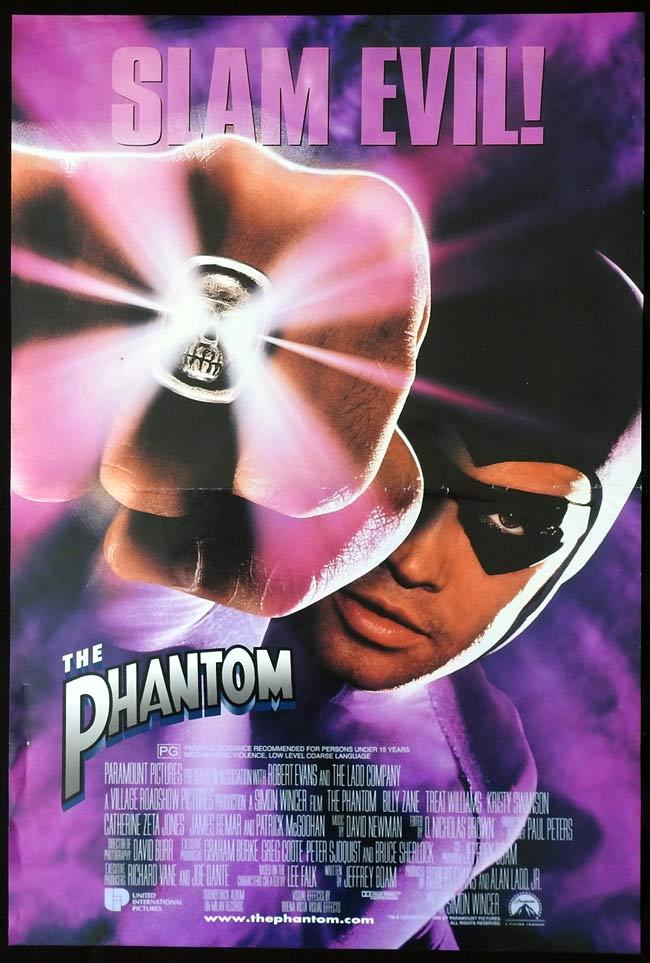 THE PHANTOM Australian Daybill Movie Poster Billy Zane
