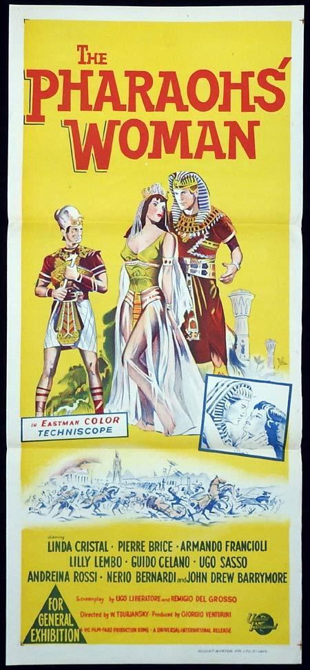 THE PHARAOHS WOMAN Original Daybill Movie poster Linda Cristal Pierre Bruce