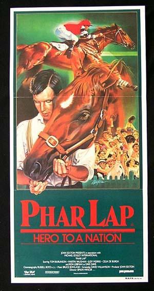 PHAR LAP Original Daybill Movie poster 1983 Horse Racing Classic