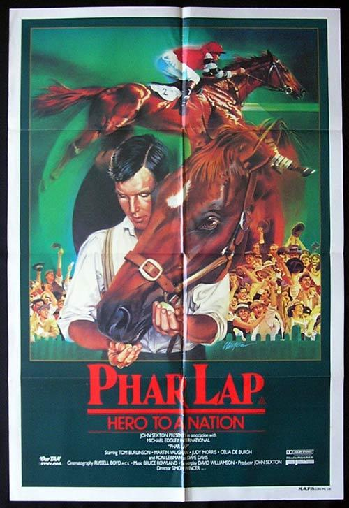 PHAR LAP 1983 Horse Racing Classic ORIGINAL One sheet Movie poster