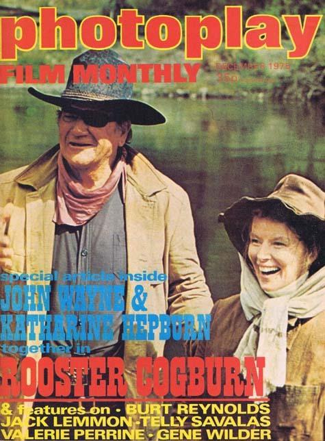 PHOTOPLAY Film Monthly Magazine Dec 1975 John Wayne Katharine Hepburn