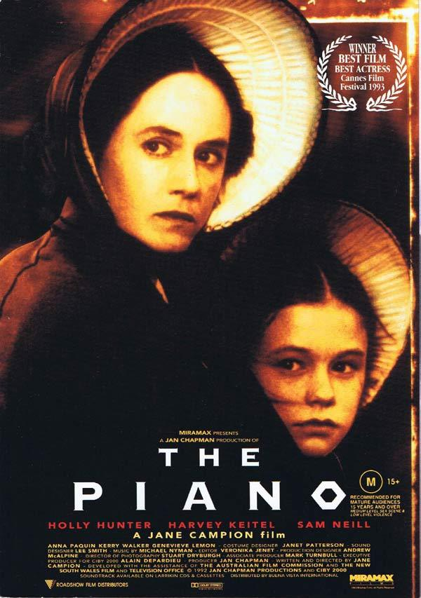 THE PIANO Original Movie Progam Herald Jane Campion Holly Hunter
