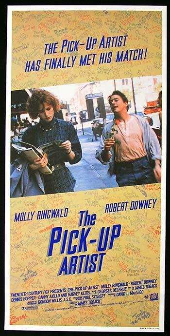 THE PICK-UP ARTIST Original Daybill Movie poster MOLLY RINGWALD Robert Downey Jnr