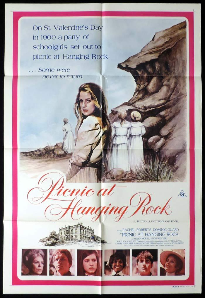 "PICNIC AT HANGING ROCK Australian ONE SHEET Movie Poster 1975 Country of Origin ""B"""