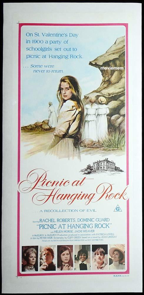PICNIC AT HANGING ROCK Original LINEN BACKED Daybill Movie Poster