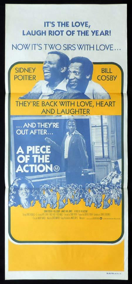 A PIECE OF THE ACTION Original Daybill Movie Poster Sidney Poitier