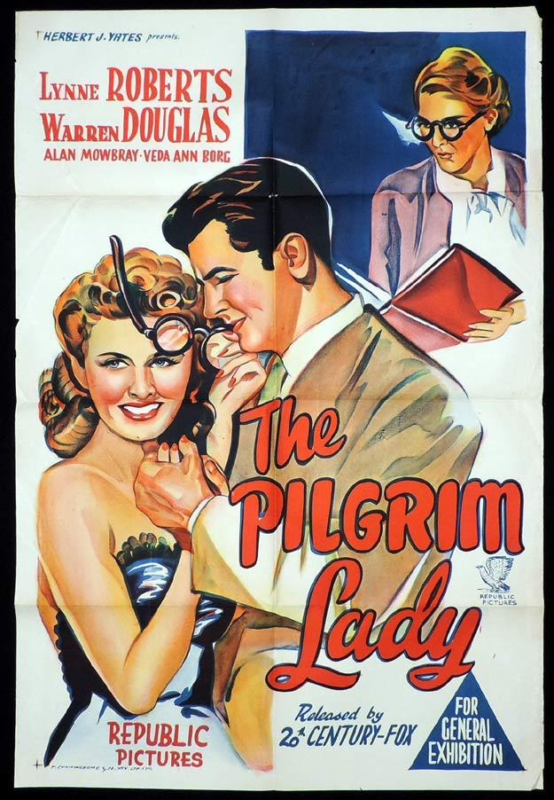 THE PILGRIM LADY One sheet Movie poster Lynne Roberts