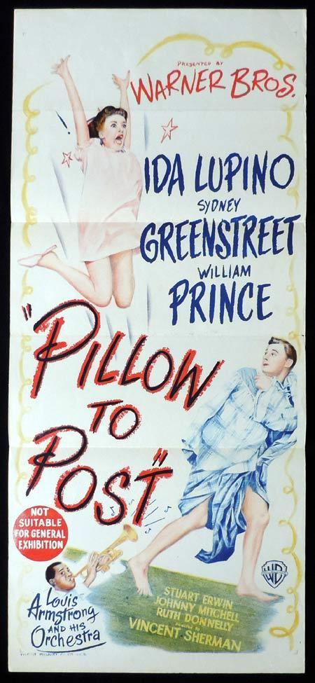 PILLOW TO POST Original Daybill Movie Poster Brian Donlevy Sydney Greenstreet Ida Lupino