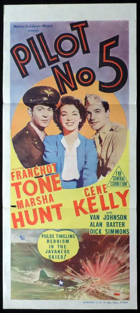 PILOT NO. 5 Original Daybill Movie Poster Lionel Barrymore Marchant Graphics