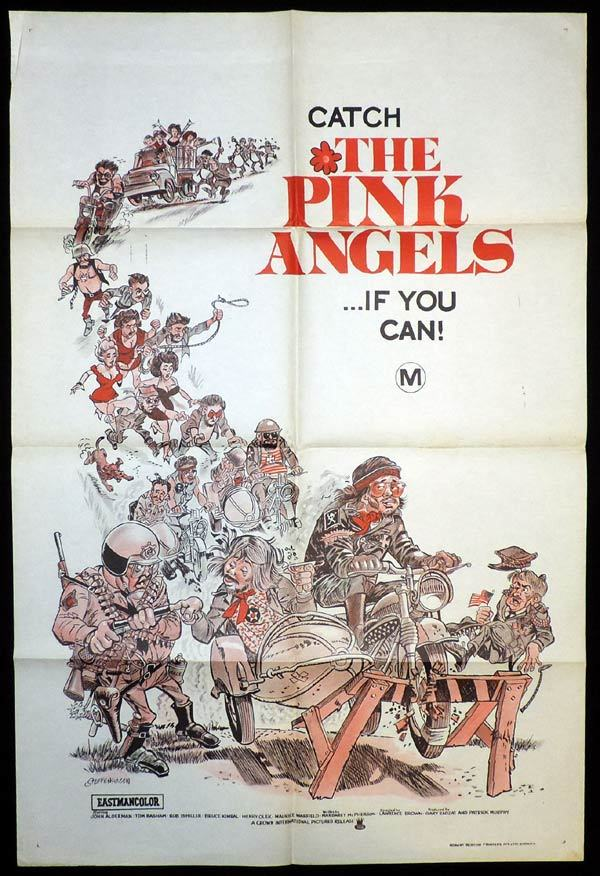 THE PINK ANGELS One Sheet Movie Poster GAY BIKERS Motorcycle art