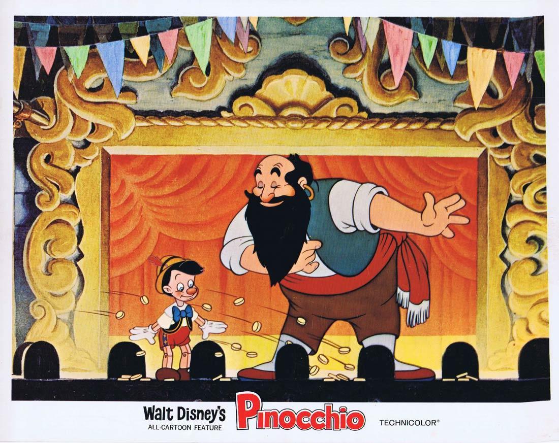 PINOCCHIO Vintage Lobby Card 2 Walt Disney 1978r