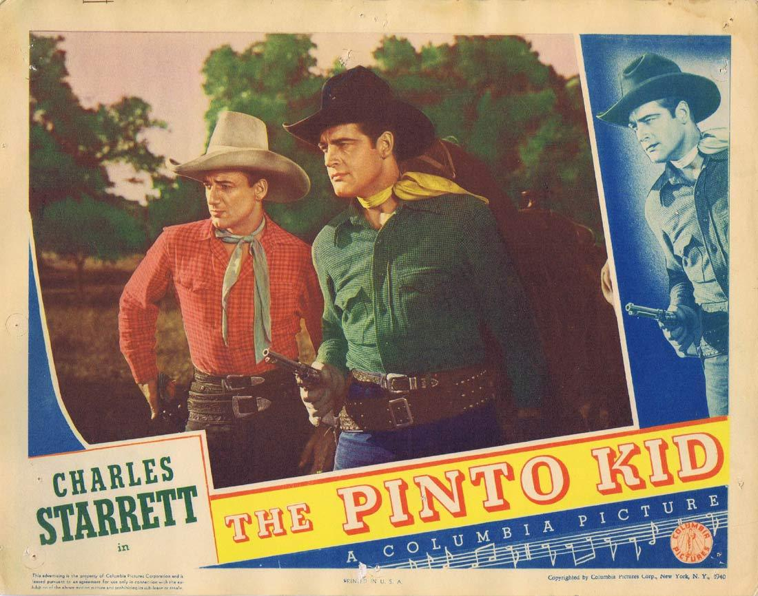 THE PINTO KID Original Lobby Card Charles Starrett Louise Currie