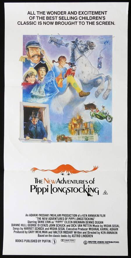 The NEW ADVENTURES OF PIPPI LONGSTOCKING Original Daybill Movie Poster