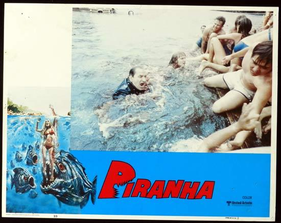 PIRANHA US Lobby Card 10 They're Here & They're Hungry