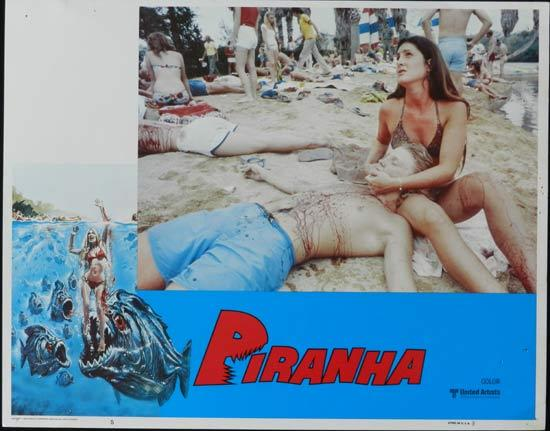 PIRANHA They're Here & They're Hungry US Lobby Card 5