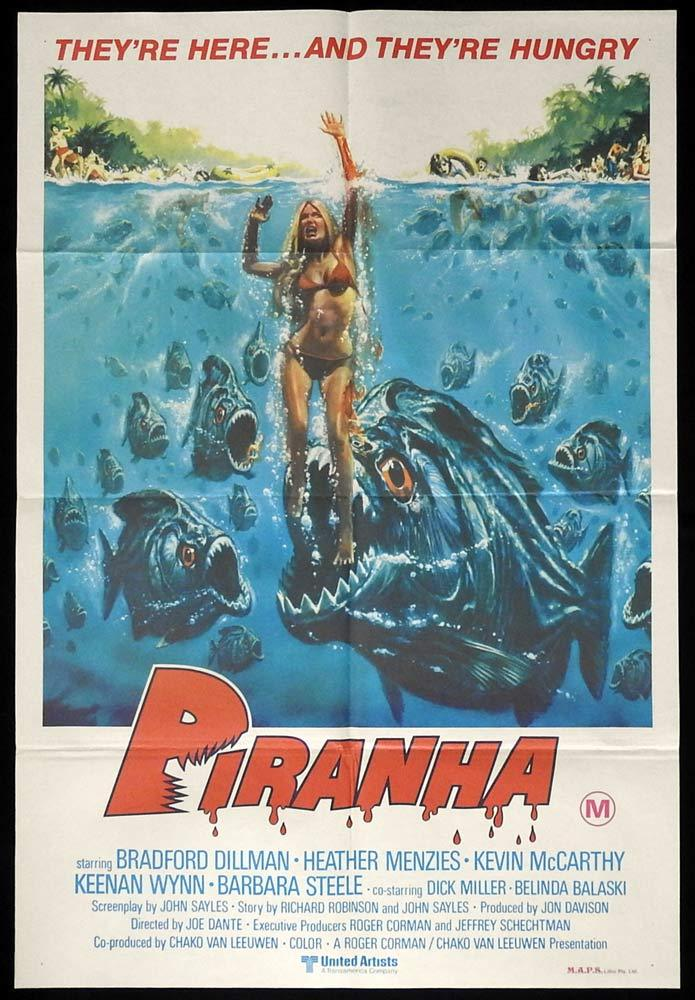 PIRANHA Original One sheet Movie Poster They're Here and They're Hungry