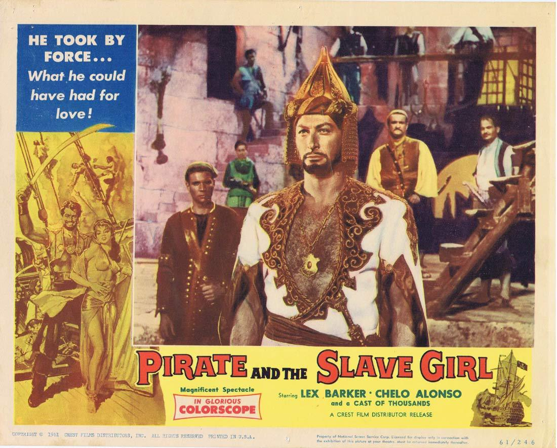 PIRATE AND THE SLAVE GIRL Lobby Card 4 Chelo Alonso Lex Barker